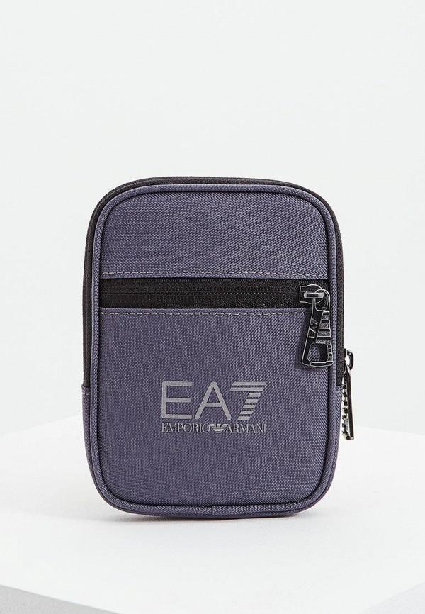 мужская сумка ea7, серая