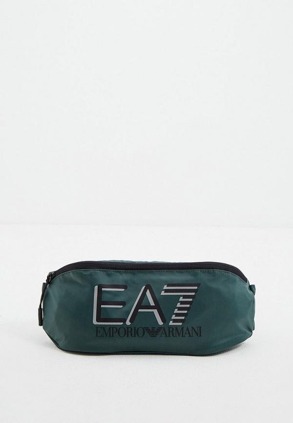 мужская сумка ea7, зеленая