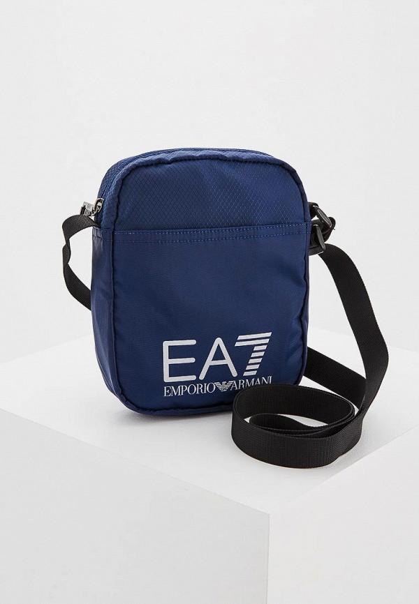 мужская сумка ea7, синяя