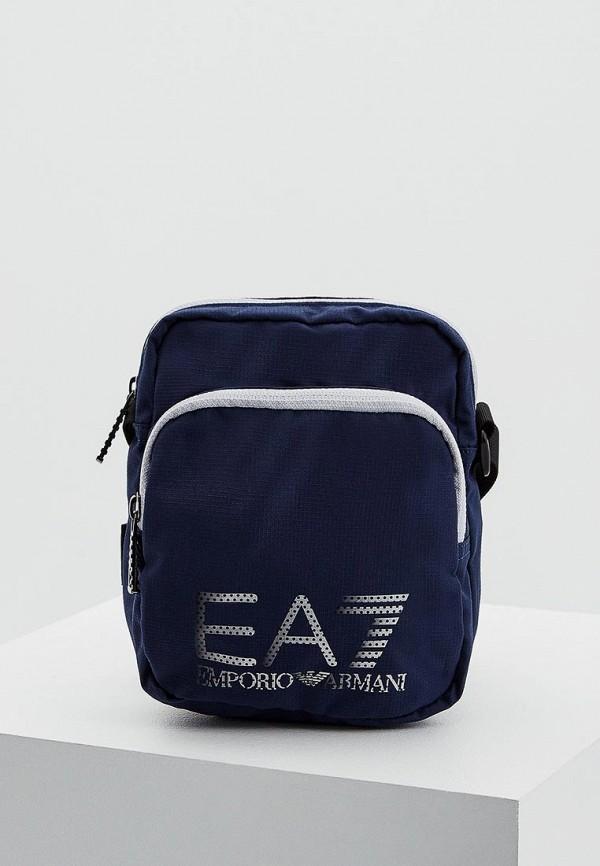 Фото 6 - женскую сумку EA7 синего цвета