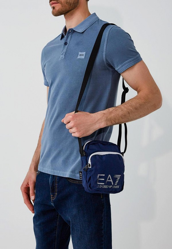 Фото 10 - женскую сумку EA7 синего цвета