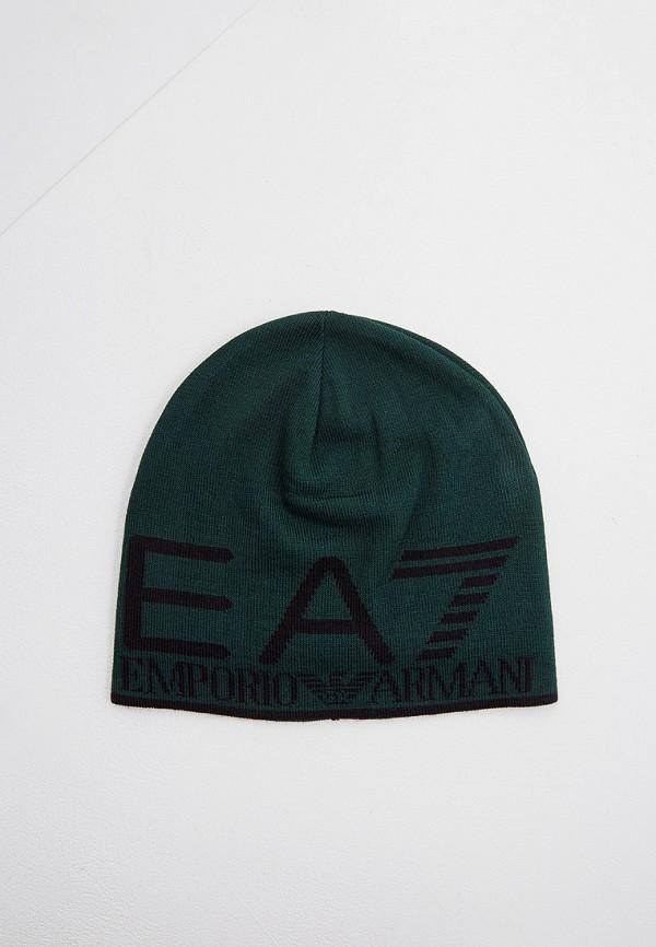 мужская шапка ea7, зеленая