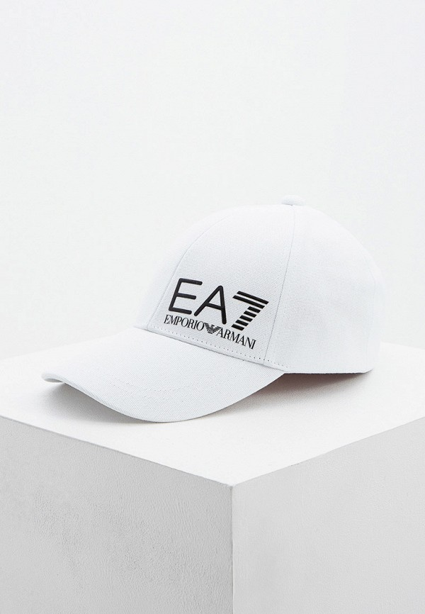 мужская бейсболка ea7, белая