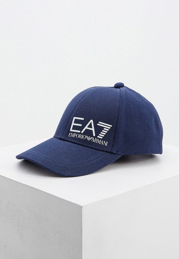 мужская бейсболка ea7, синяя