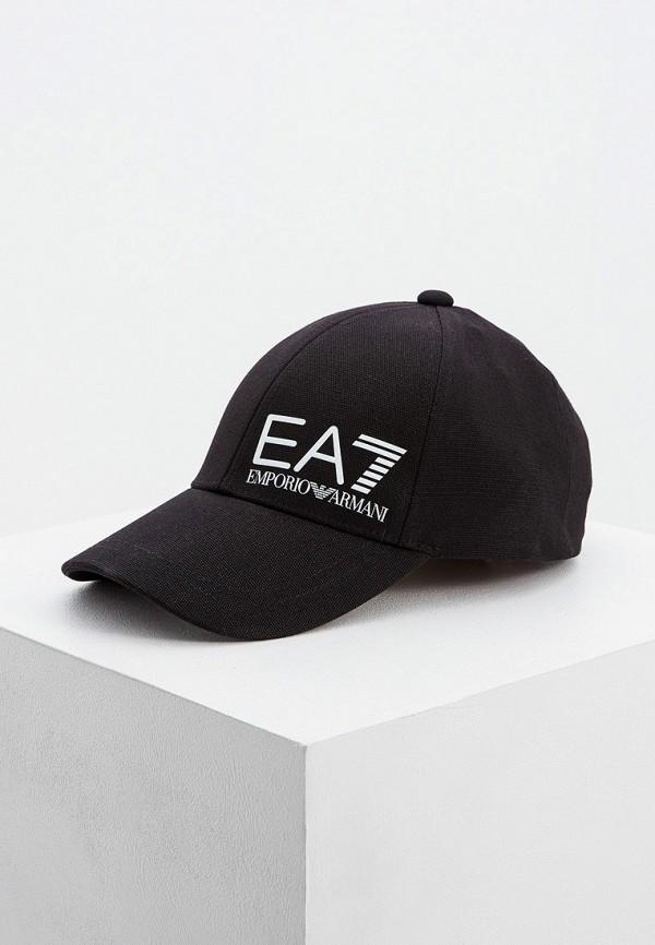 мужская бейсболка ea7, черная