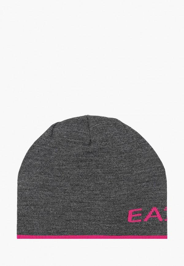 женская шапка ea7, серая