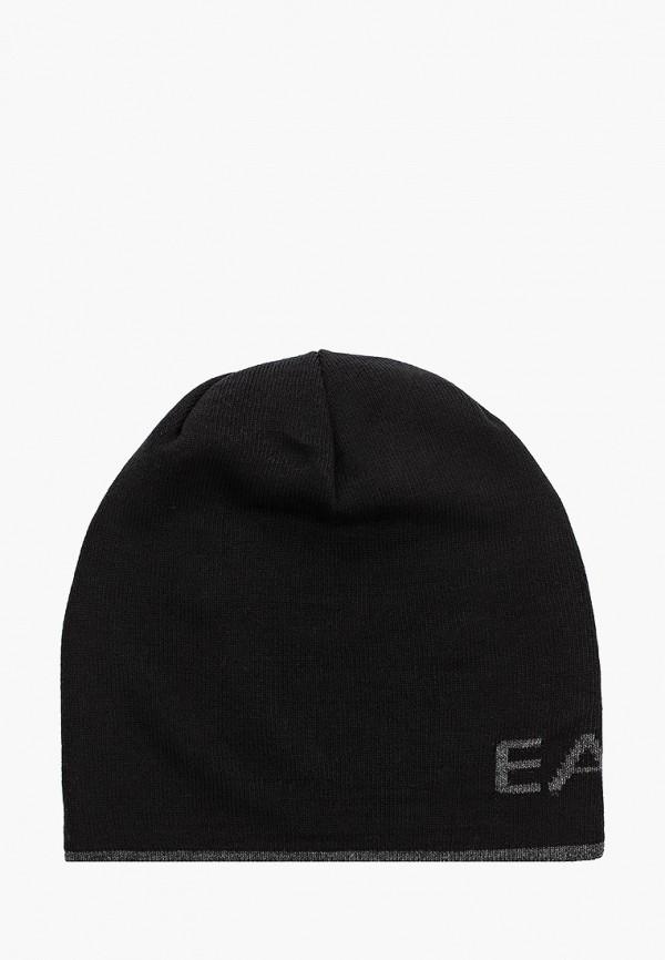 женская шапка ea7, черная