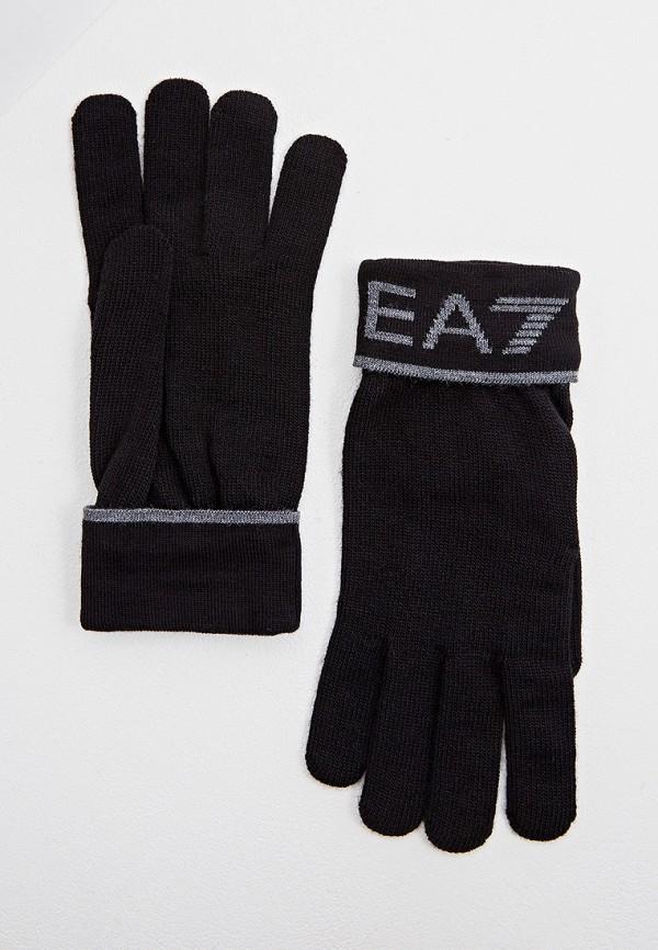мужские перчатки ea7, черные