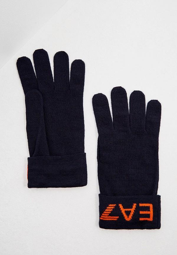 мужские перчатки ea7, синие
