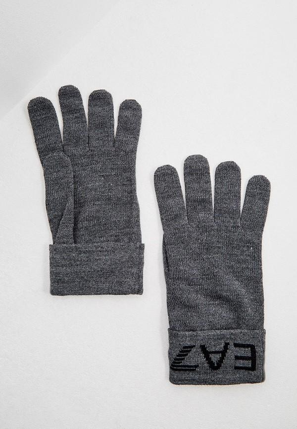 мужские перчатки ea7, серые