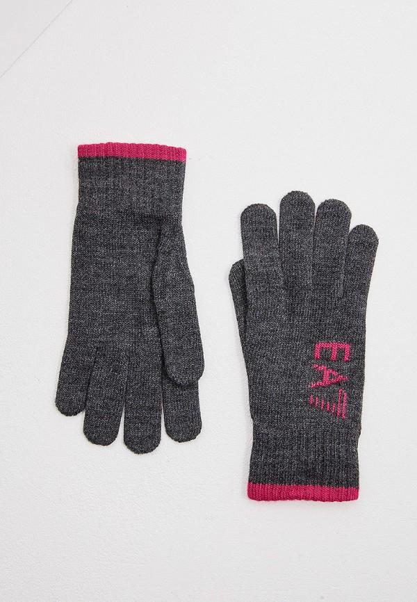 женские перчатки ea7, серые