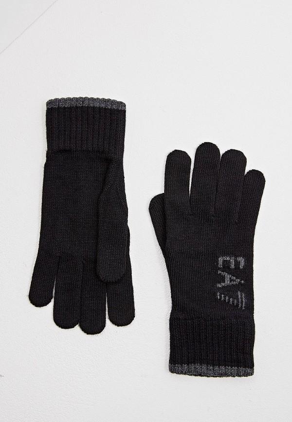 женские перчатки ea7, черные