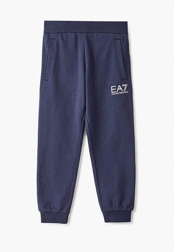 спортивные спортивные брюки ea7 для мальчика, синие