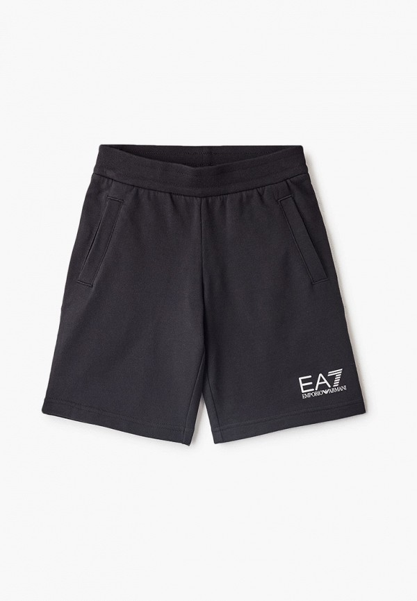спортивные шорты ea7 для мальчика, черные