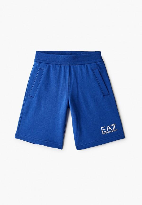спортивные шорты ea7 для мальчика, синие