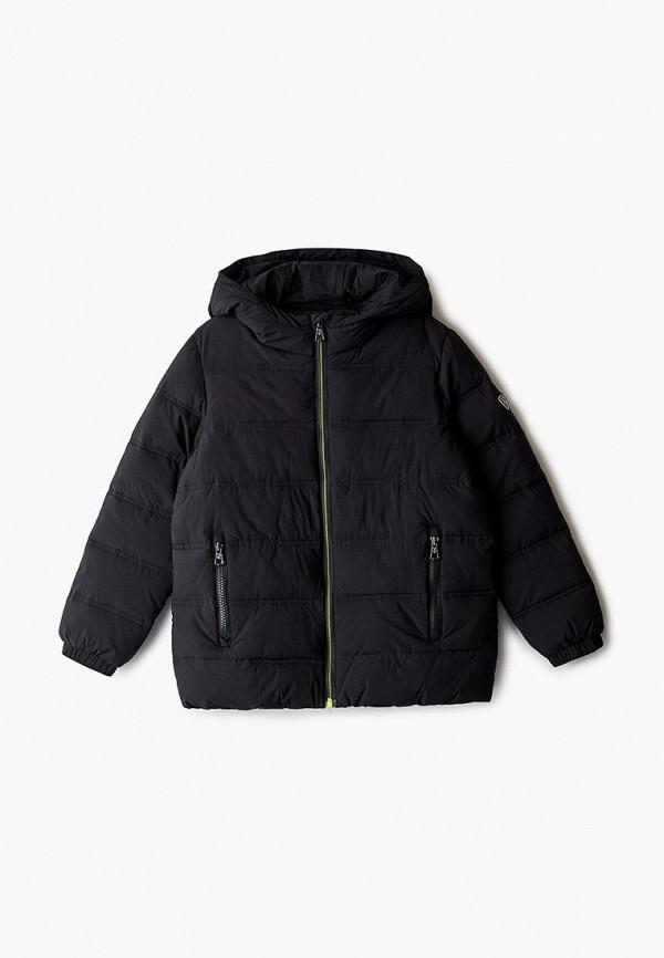 куртка ea7 для мальчика, черная