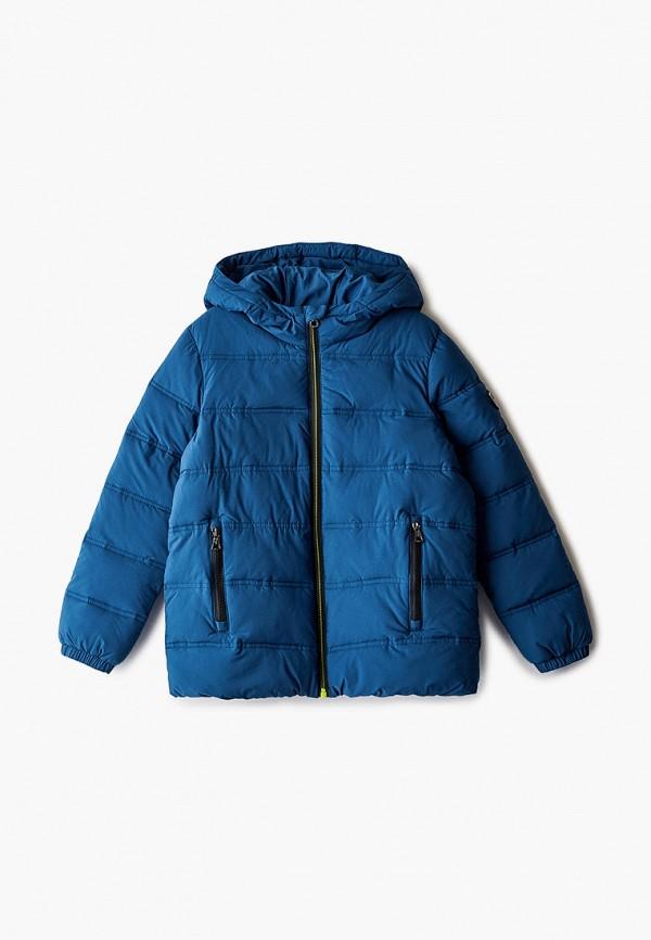куртка ea7 для мальчика, синяя