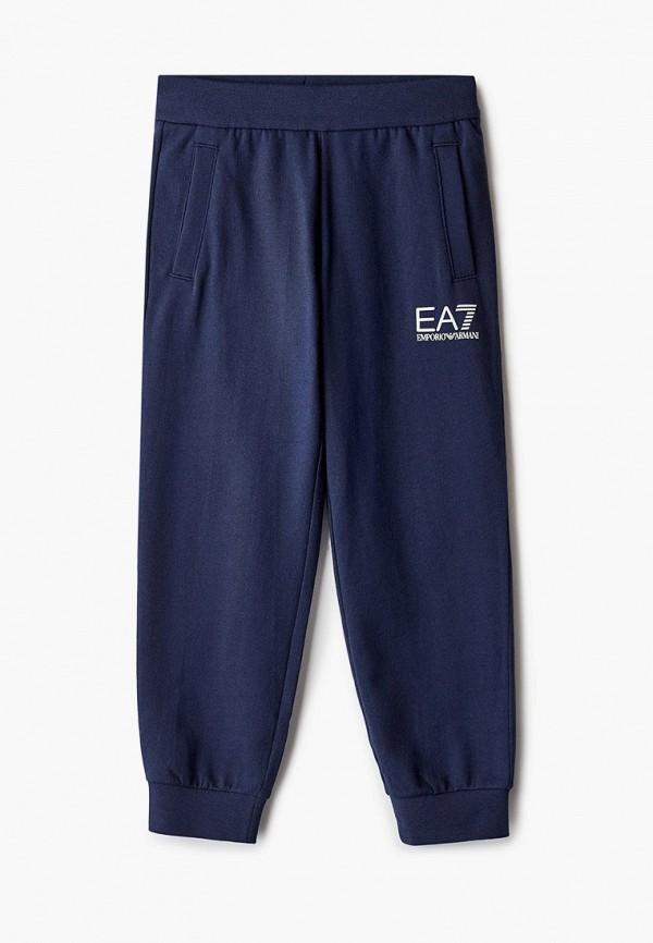 спортивные брюки ea7 для мальчика, синие