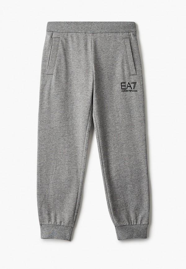 спортивные брюки ea7 для мальчика, серые