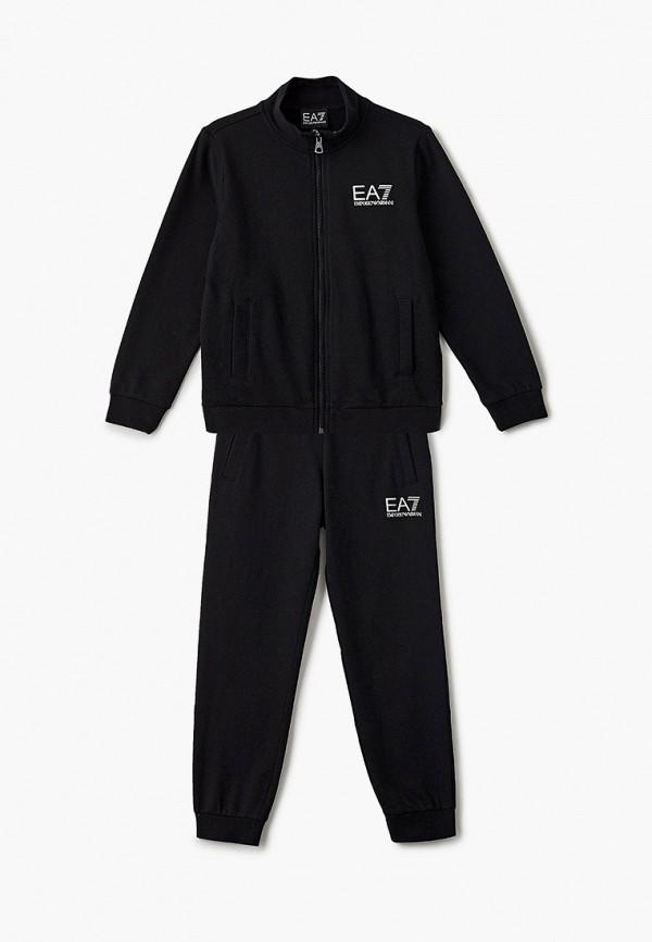 спортивный костюм ea7 для мальчика, черный