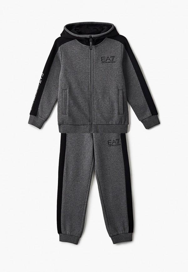 спортивный костюм ea7 для мальчика, серый