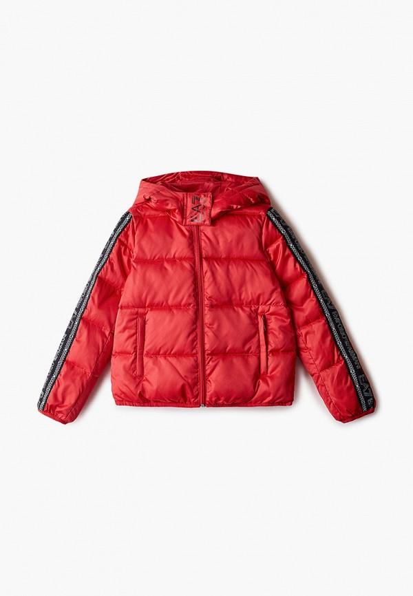 куртка ea7 для девочки, красная