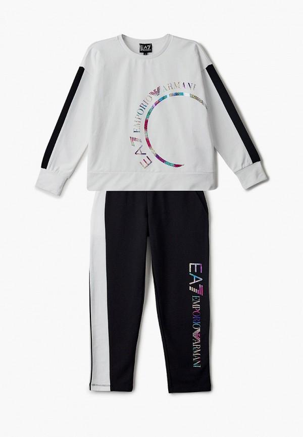 спортивный костюм ea7 для девочки, разноцветный