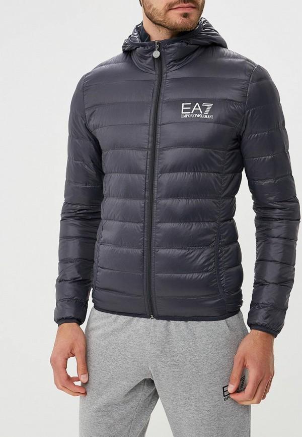 мужской пуховик ea7, серый