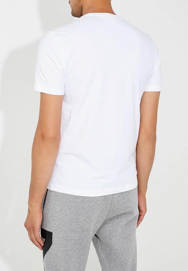 Фото 8 - мужскую футболку EA7 белого цвета