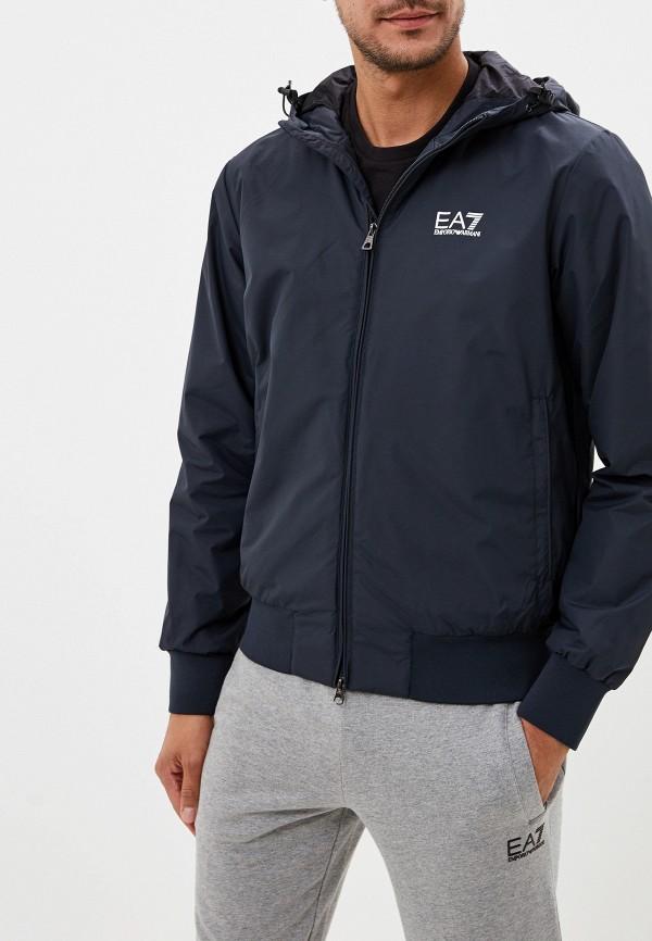 мужская куртка ea7, синяя
