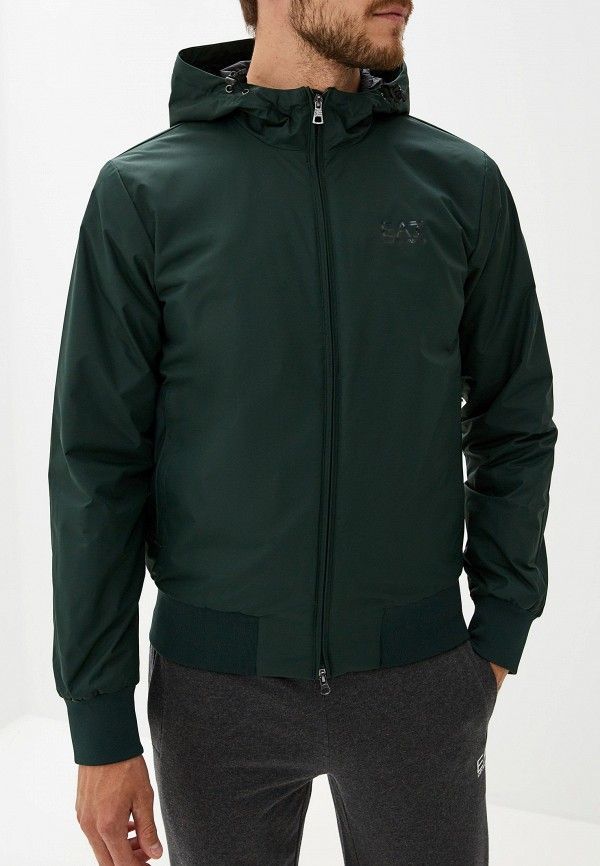 мужская куртка ea7, зеленая