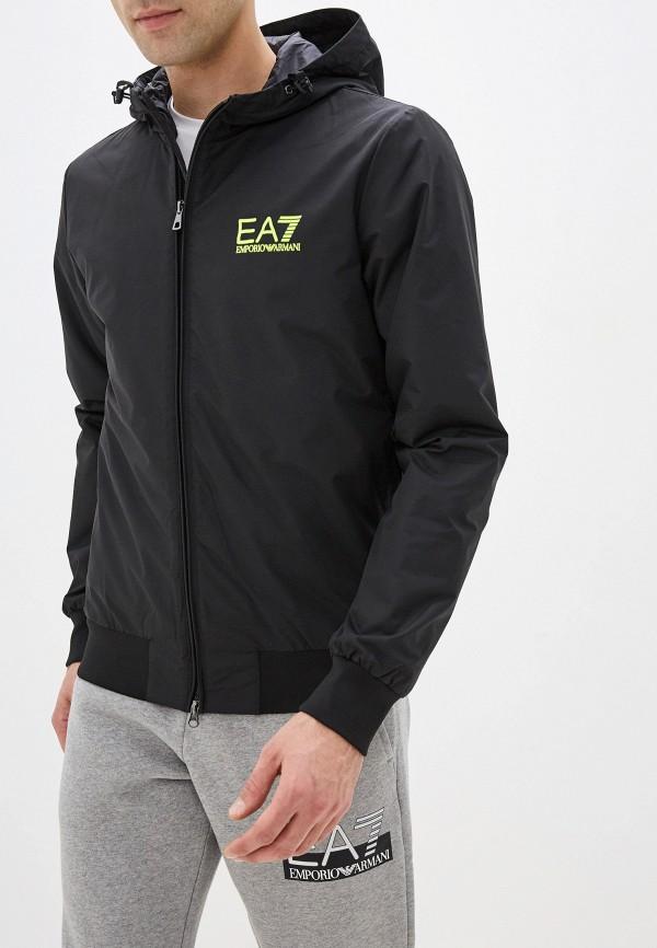 мужская ветровка ea7, черная