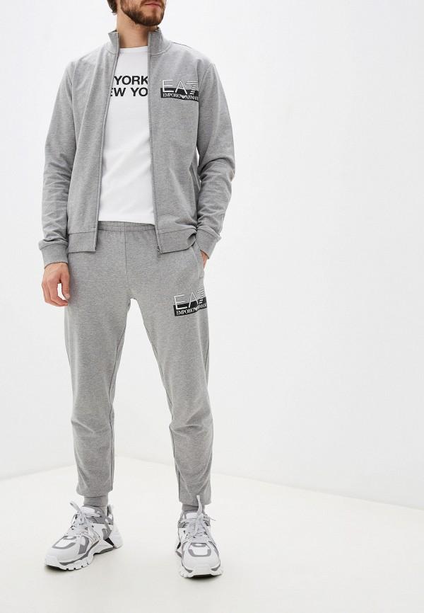 мужской спортивный костюм ea7, серый
