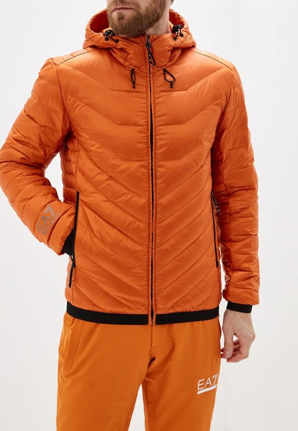 мужская куртка ea7, оранжевая