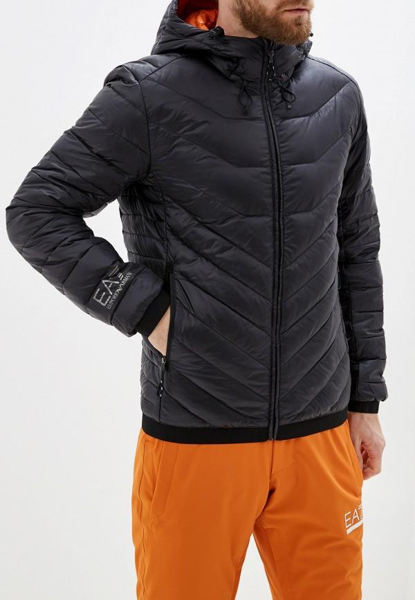 мужская куртка ea7, черная