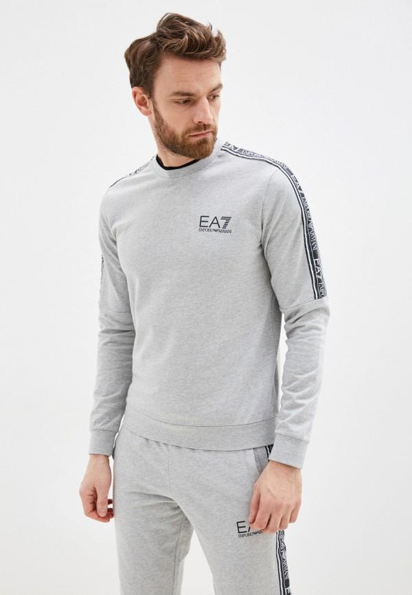 мужской свитшот ea7, серый