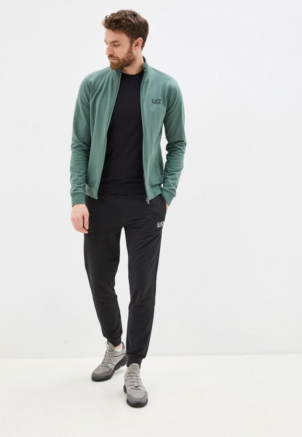 мужской спортивный костюм ea7, зеленый