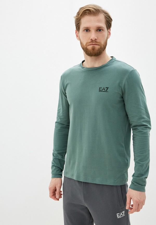 мужской лонгслив ea7, зеленый