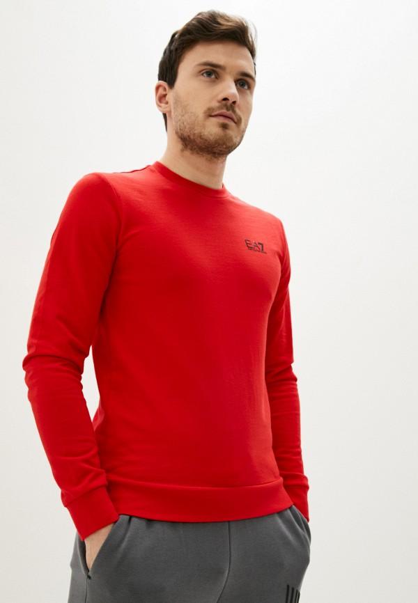 мужской свитшот ea7, красный
