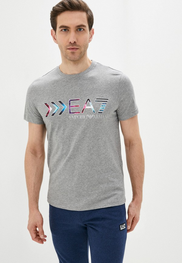 мужская футболка ea7, серая