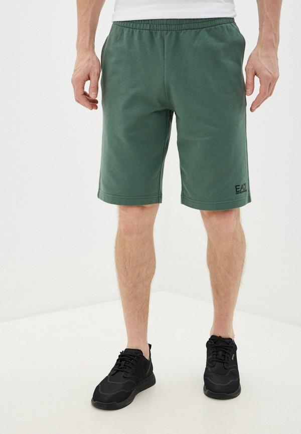 мужские шорты ea7, зеленые