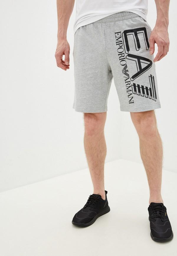 мужские шорты ea7, серые