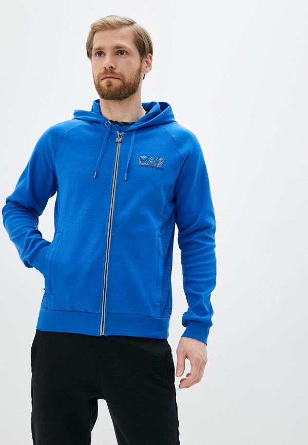 мужская толстовка ea7, синяя