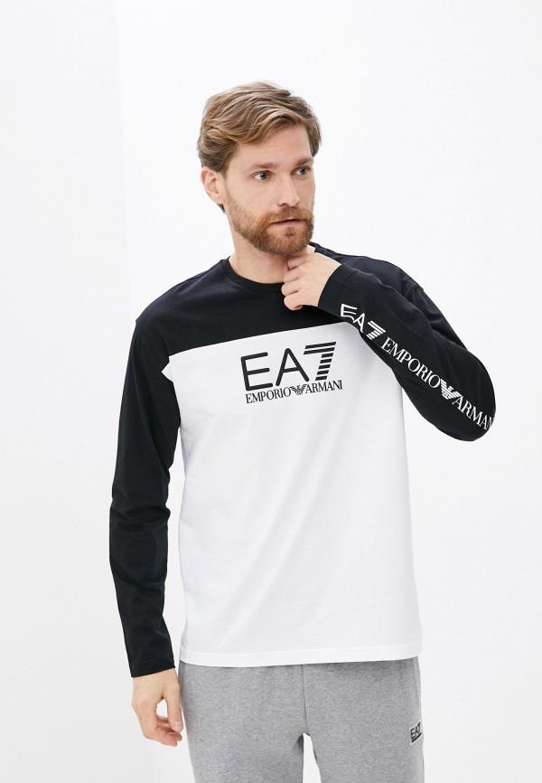 мужской лонгслив ea7, белый