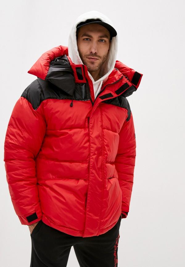 мужская куртка ea7, красная