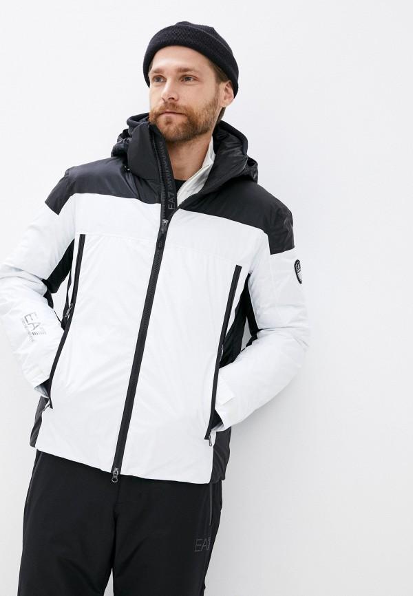 мужская куртка ea7, белая