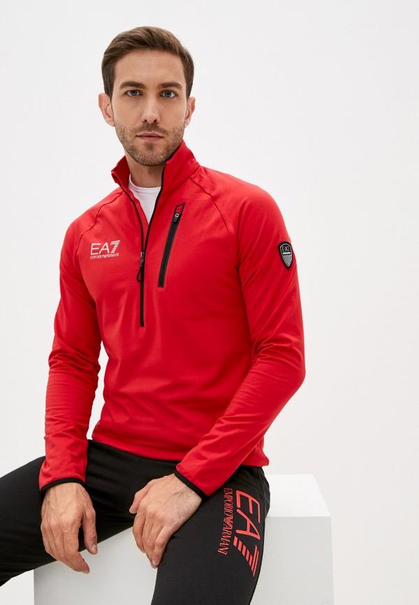 мужская олимпийка ea7, красная