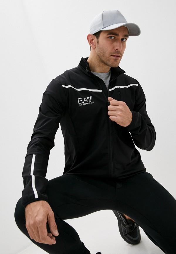 мужская спортивные олимпийка ea7, черная
