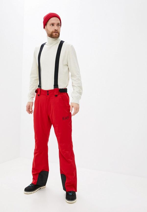 мужские брюки ea7, красные