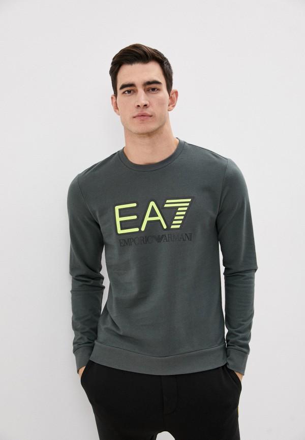 мужской свитшот ea7, зеленый